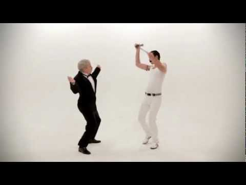 Freddy Mercury vs Frank Sinatra.  Epic Dance Battles Of History.