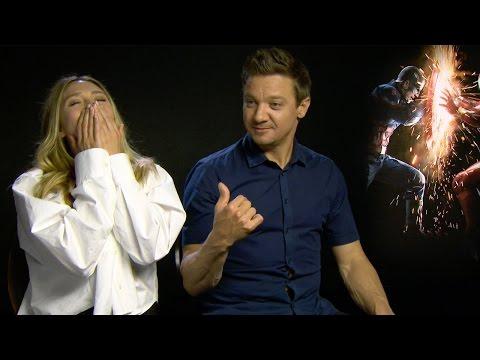 "Jeremy Renner reveals the origins of the ""Renner Stretch"" running joke!"