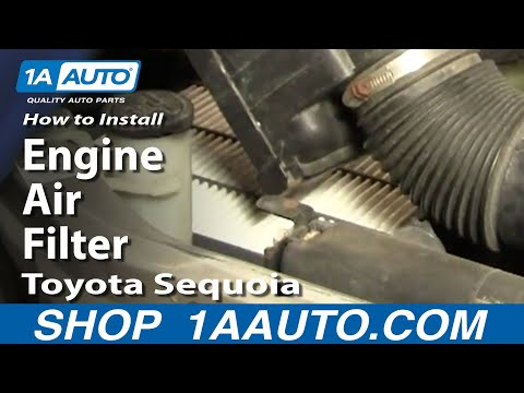 How To Install Replace Engine Air Filter Toyota Sequoia 01-04 1AAuto.com