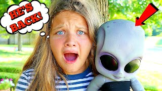 Baby Alien Returns! Come Play With Us! Treasure Hunt For The Big Surprise!