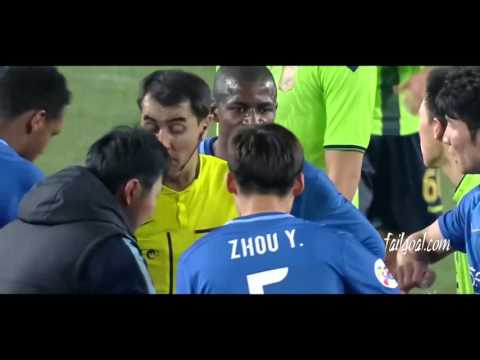 Ramires Red Cards  Jiangsu Suning VS jeonbuk hyundai HD