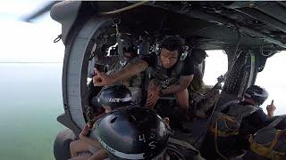 478th Ca Bn Airborne Water Jump Ocean