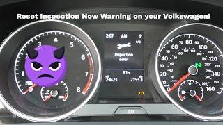 Volkswagen Reset Inspection Now Error on MK7 Golf (GTI, Sportwagen, R)