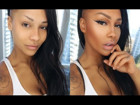 FOUNDATION, CONTOUR AND EYEBROW ROUTINE TUTORIAL - SONJDRADELUXE