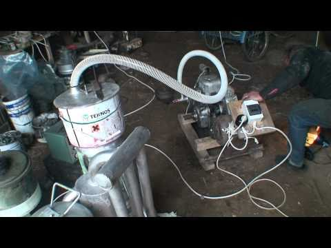 Wood gasifier. Getting electricity from wood.