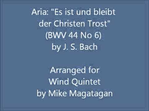 Бах Иоганн Себастьян - Es ist und bleibt Christen Trost, BWV 44, No.6