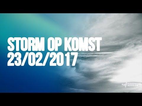 Storm op donderdag 23 februari 2017