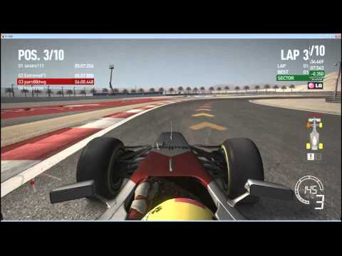 Rd.4 Bahrain Final 1/2 GP Nights Codemasters F1 2010 PC online multiplay