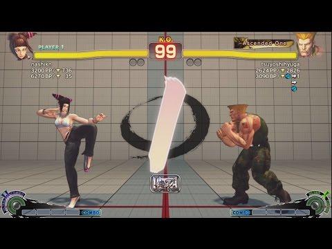 Younashi (Juri) vs (^ー^) (Guile) - USF4 Match *1080p*