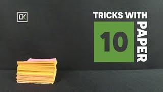 10 Magic Tricks - Experiments - Life Hacks With Paper