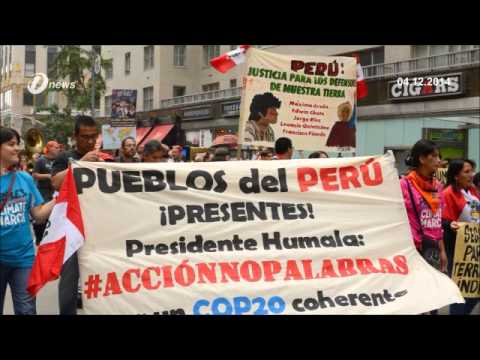 Lima Peru | Activist Protest During Climate Change Conference