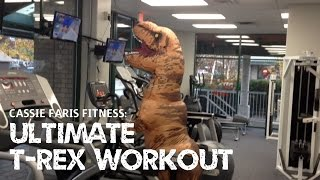 Ultimate T-Rex Workout (Jurassic World Inflatable Costume Ft. Cassie Faris Fitness/Kassie K.)