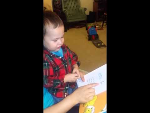 21 month old reading letters