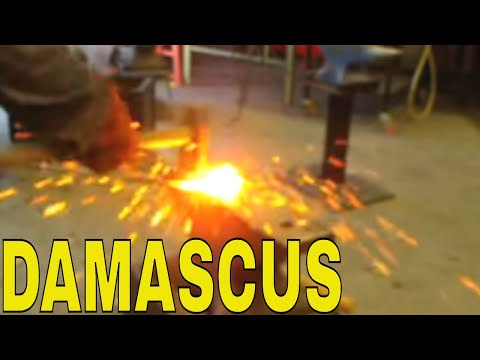 Damascus Pattern Steel from a Bicycle Chain