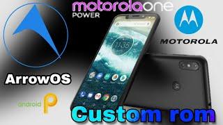 ArrowOS For Motorola One Power [Chef]