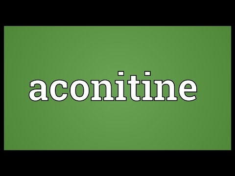 Header of aconitine