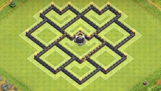 Clash of Clans - EPIC Town Hall 7 (TH7) Dark Elixir Farming Base With Air Sweeper
