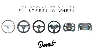 The Evolution of F1 Steering Wheels | Donut Media #FormFollowsFunction