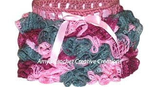 Crochet a Sashay yarn onto a Toddler Skirt Tutorial