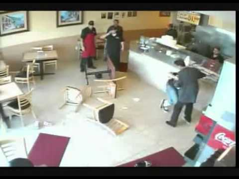 Massive Gang Brawl fight In Restaurant video