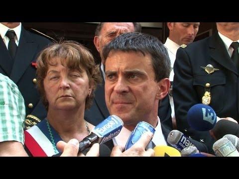 image vidéo Gendarmes tuées: Valls annonce un hommage de la nation