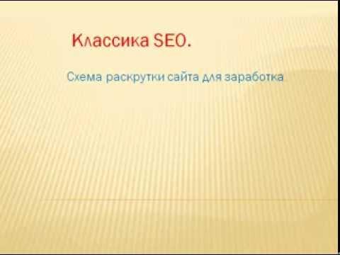 Схема раскрутки сайта.