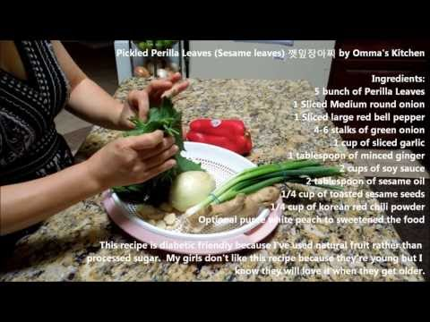 Pickled Perilla Leaves (Sesame Leaves) 깻잎장아찌 (Korean Side Dish) by Omma s Kitchen