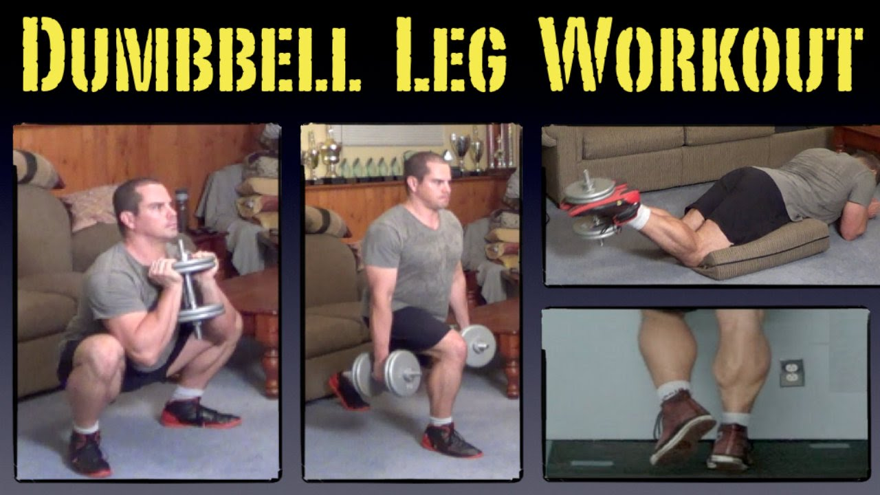 Home Leg Workout with Dumbbells - YouTube