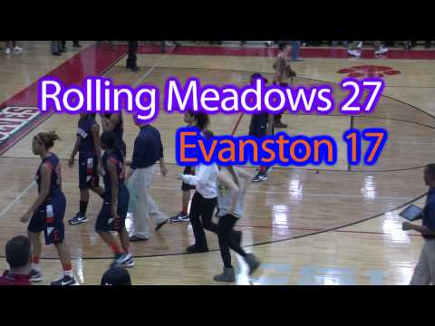 Highlights: Rolling Meadows vs. Evanston - Girls Varsity High School Basketball