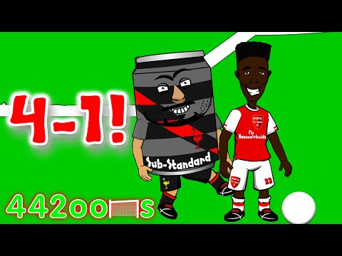 Arsenal FC 4-1 v Liverpool FC! Cartoon Highlights/Goals (Bellerin Sanchez Ozil Giroud Can red card)
