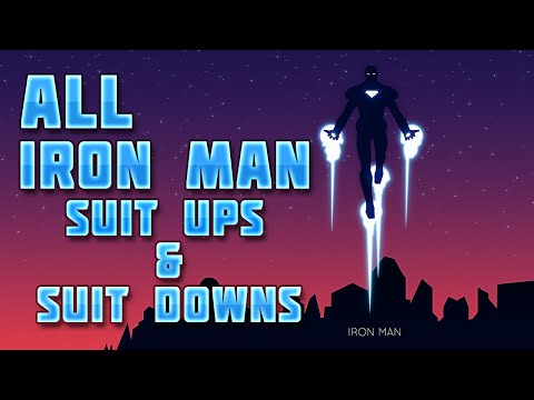 All Iron Man Suit Ups & Suit Downs Scenes