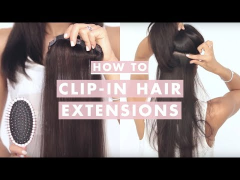 How to Clip In Luxyhair Extensions