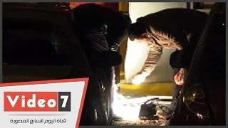 بالفيديو .. وصول الأدلة الجنائية لمعاينة انفجارى المطرية