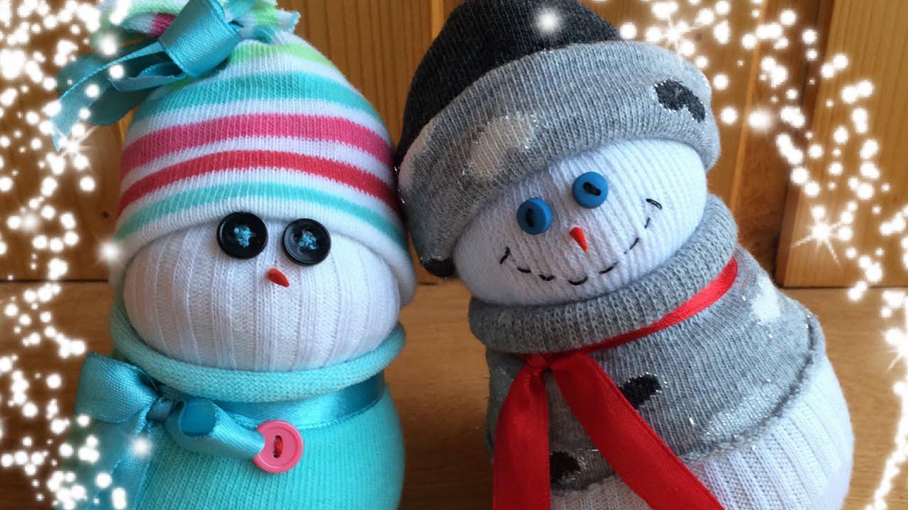 Поделки-снеговик своими руками