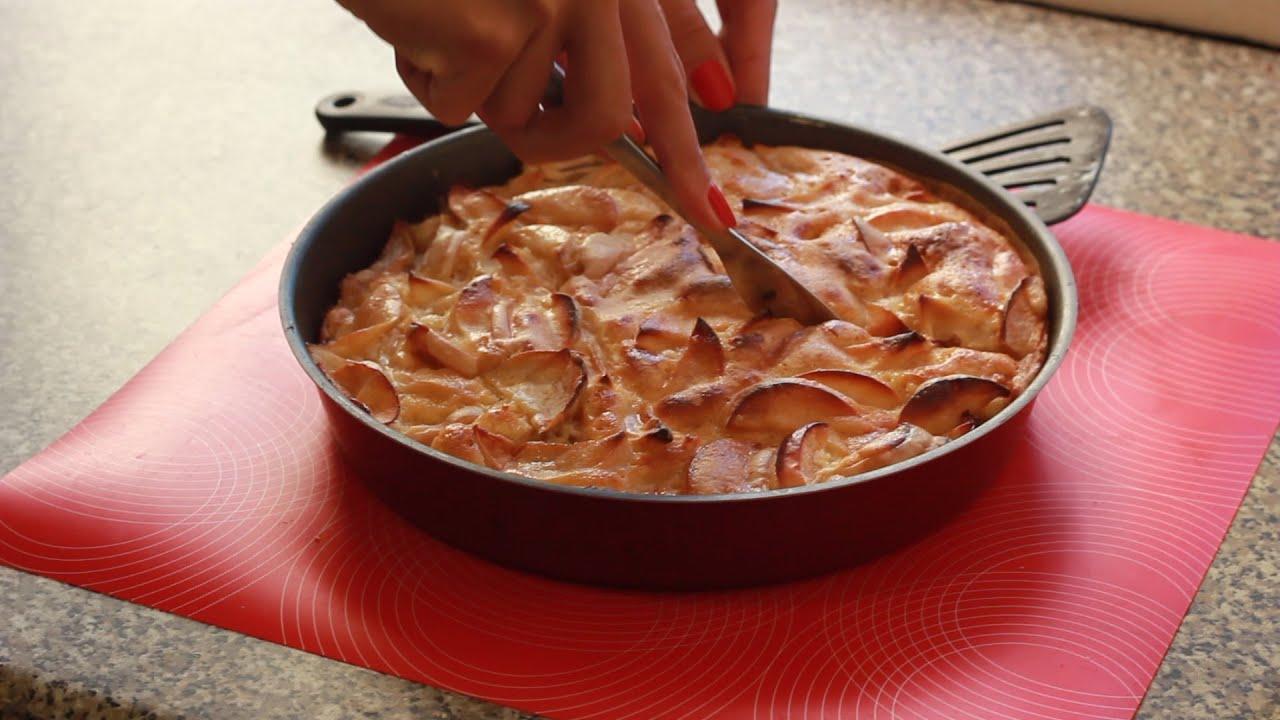 Как на сковородке сделать шарлотку