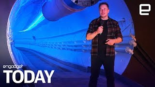 Elon Musk's LA tunnel turns Teslas into an underground train | Engadget Today