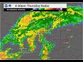 Radar Loop for Late Afternoon & Evening of April 25, 2019