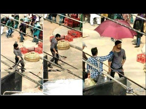 మెగాపవర్ స్టార్కి 'లీకుల' టెన్షన్! Ram Charan Boyapati Srinu Movie Shooting Stills Leaked