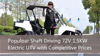 Populoar Shaft Driving 72V 1.5KW Electric UTV with Competitive Prices