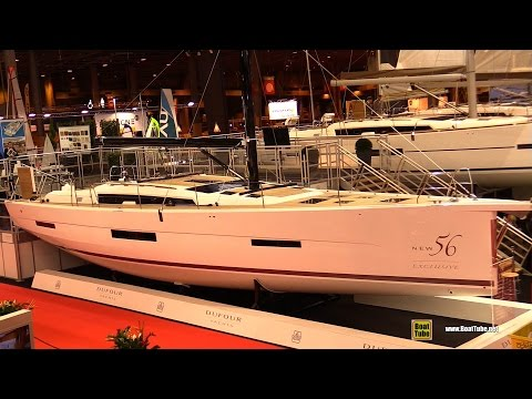2017 Dufour 56 Exclusive Sailing Yacht - Deck and Interior Walkaround - 2016 Salon Nautique Paris