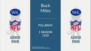 Buck Miles: Football Fullback and Halfback