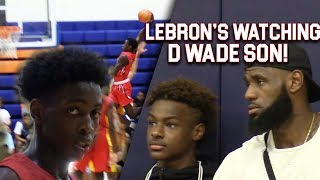 LeBron & Bronny WATCH Zaire Wade! INSANE POSTER & GAMEWINNER inFront of Dwyane Wade