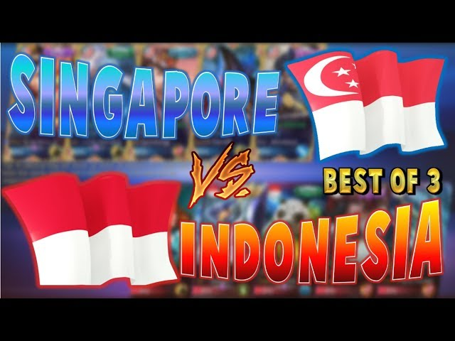 SINGAPORE VS INDONESIA - Best of 3 - MOBILE LEGENDS E-SPORTS (English Commentary) July 27