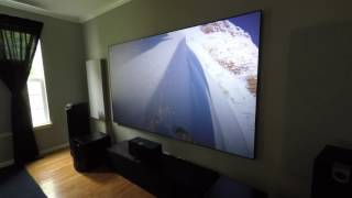 Media room in action from different angles  (featuring Screen Innovations Black Diamond Zero Edge)