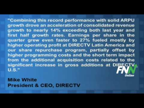 DirecTV Reported Mixed Earnings For Q3, Rose 14% YoY
