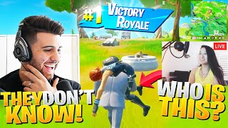 I CARRIED A Knocked ENEMY For The Whole Game! (They Were Streaming!) - Fortnite Battle Royale