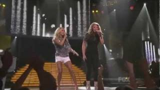 Download Lagu Carrie Underwood and Lauren Alaina on American Idol finale - Before He cheats Gratis STAFABAND