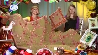 Quilting. Sew a cozy blanket, cushion, textile decoration of the bright patches