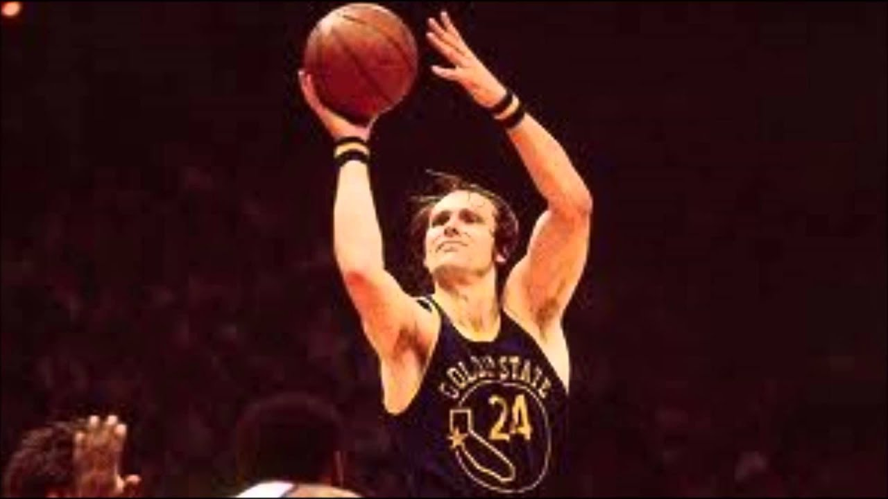 Top Ten Small Forwards- #6 Rick Barry - YouTube
