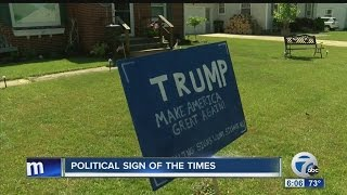 Trump supporters say their sign was stolen